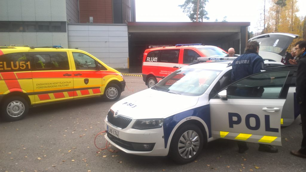 Police car, Ambulance and fire Command vehicle